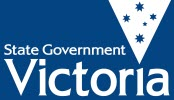 Victoria Government logo blue