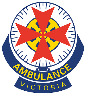 Victoria Ambulance logo blue red yellow blue