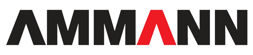 Ammann Logo Black and red text