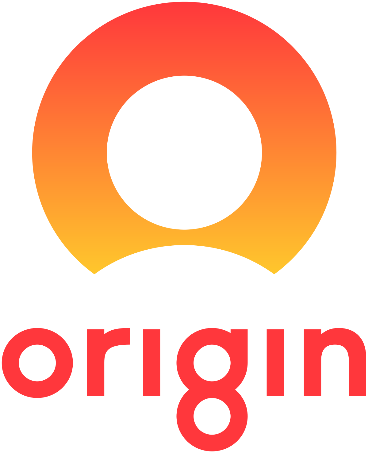 Origin Energy Logo red and orange