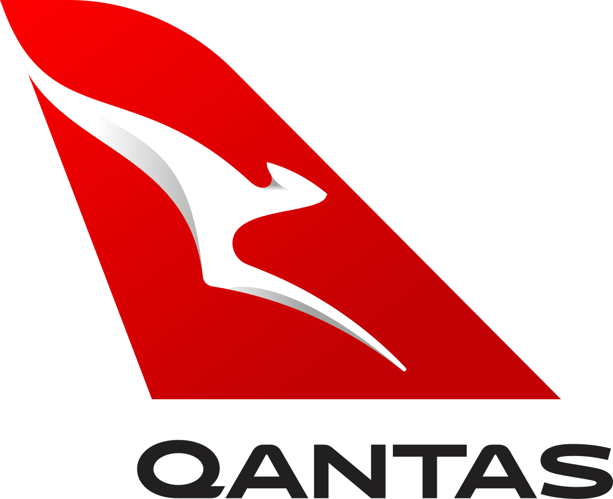 Qantas Logo black, white and red